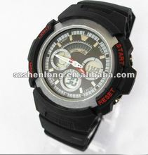 2012 designer digital and quartz dual function silicone watch