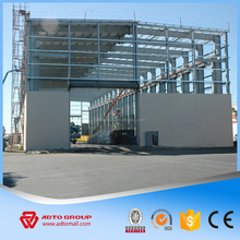 Large span steel space frame structure workshop prefabricated warehouse materials manufacturer