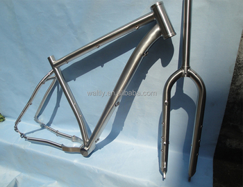 Waltly 29er moutain titanium bicycle frame for belt drive bike