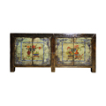 cheap wholesale antique furniture painted wooden buffet sideboard high glossy wood cabinets