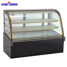 Junjian Commercial refrigerated cake showcase /cake display supermarket showcase freezer refrigeration
