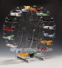 awesome acrylic open buffet stand, new design acrylic table stand