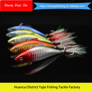 Yajie Manufacturer Supply Vibration Bait Wholesale Make Plastic Fishing Lures