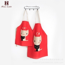Wholesale custom reuseable Christmas kids and adults cotton dollar store apron set