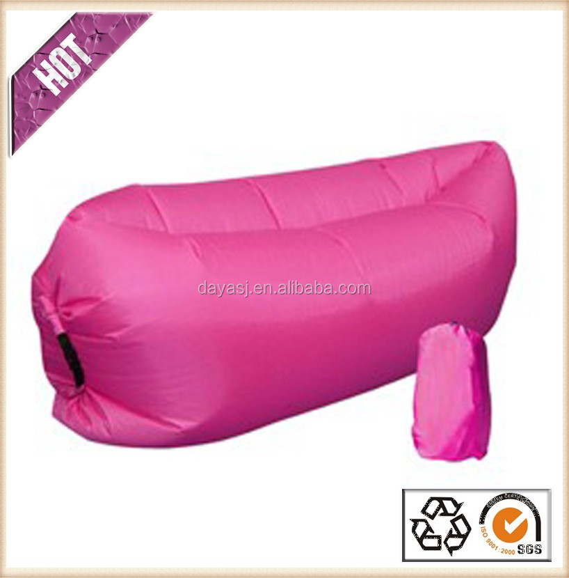 Chinese factory supply hot sale comfortable hangout inflatable bean bag air sofa sleeping bag