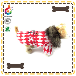louis checkerboard rain hat dog coat