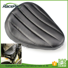 Leather Contoured Motorcycle Solo Seat For Harley Chopper Custom Bobber