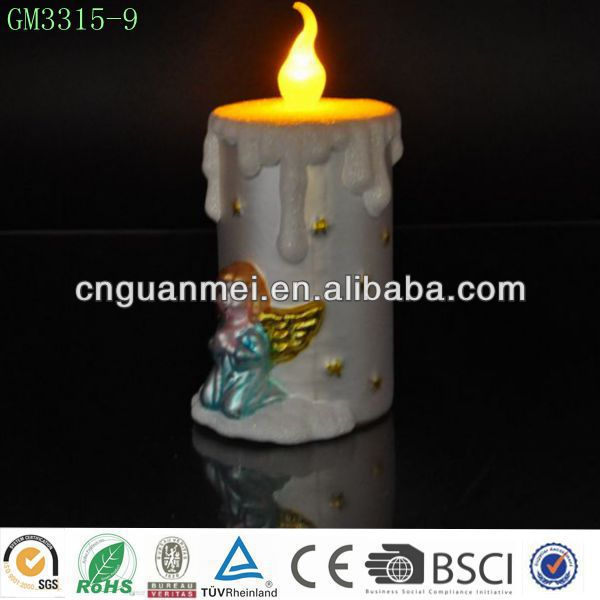 Unique glass candle led light for home decor