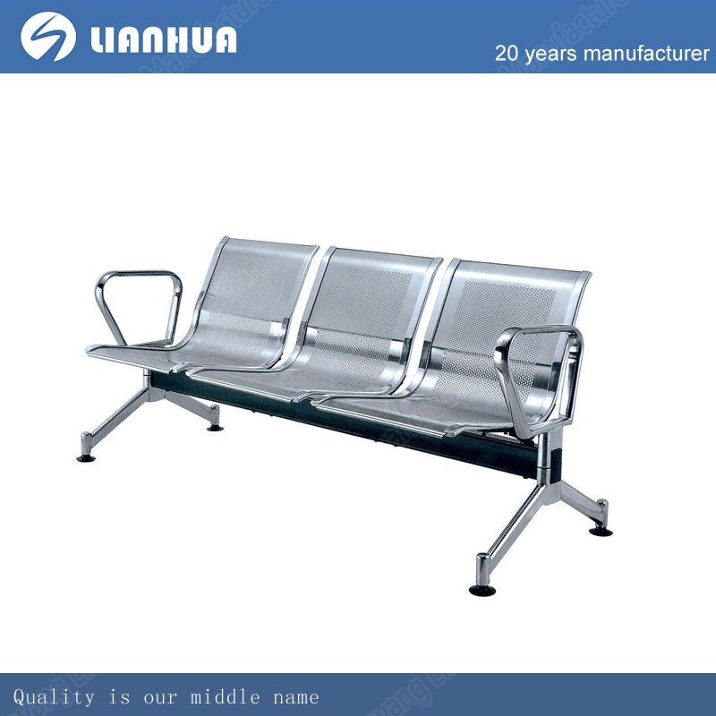3-seater public waiting bench chair