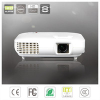 mini Mega bright RGB LED lamp projects 3000 lumens hd projectors with multimedia interfaces