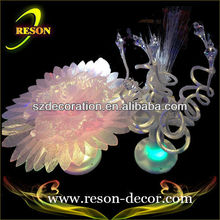 D:45cm artificial flowers with led lights optical fiber flowers