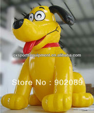 advertising inflatable dog cartoon, inflatable yellow dog cartoon,inflatable hot sell dog model
