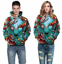 Men/Women Hoodies Loose Style Print Animals Rainbow Triangle Cartoon 3d Sweatshirts Plus Size