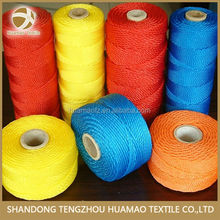 210D high tenacity colorful pp twine pp twisted twine