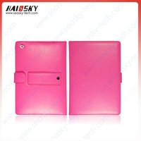 Ultra slim hard Leather case for ipad 2 Rotatable Stand function