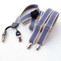 Handmade Band four clips decorative fashion suspender personality braces
