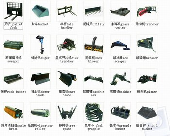 attachments of skid steer loader
