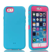 Solid color case for apple i6,robotic strong case for new apple iphone 6