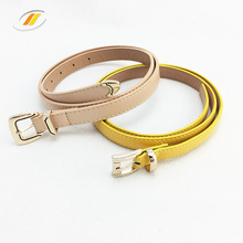 Wholesale Fashion Woman Skinny PU Leather Dress Belts