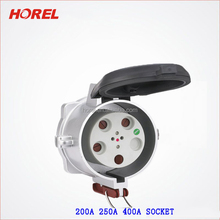 Industrial Plug Sockets 4 Pin 5 Pin 3P+N+E IP67 200A 250A 400A waterproof plug and socket with 4 pin