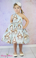Wholesale High quality print cotton children dress sets top international clothing brands