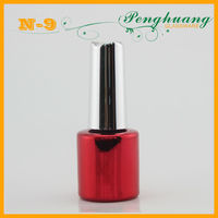 kiss beauty cosmetic nail polish bottles with brush and cap
