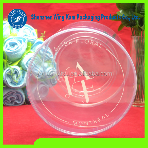 popular transparent tube plastic clear pvc tube packaging box