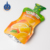 Clear plastic fruit juice packaging bag of straw inside stand up beverage pouch