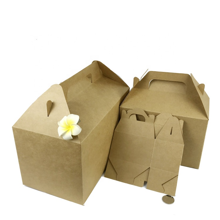 8''*5 1/4''*4 7/8'' Unique design gable custom paper gift packaging box for wholesale