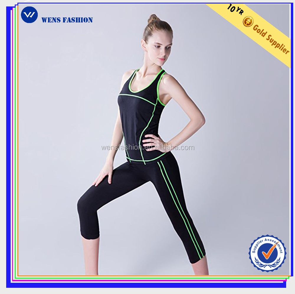 Wholesale Fit Active Sports Yoga Clothing Women's Fitness Yoga Wear Set