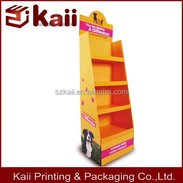 high quality custom pos cardboard display stand with hooks supplier