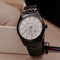 Charmful 3 Eyes Sport & CURREN Brand Clocks Men Sports Watch with Calendar