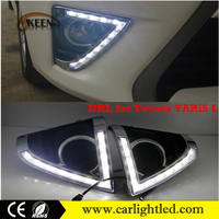 Car Head Fog Lamp Accessories DRL Daytime Running Light Led for Toyota YARiS L 2013-2014