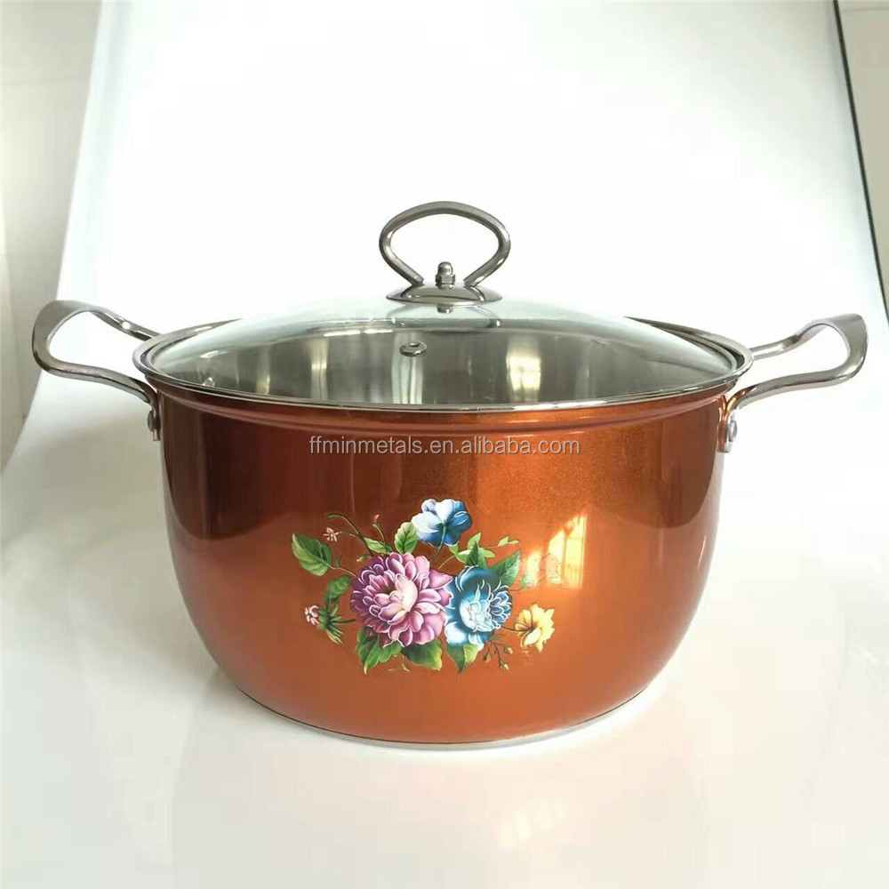 Stainless Steel Spraying Decoration Colorized Soup Pot