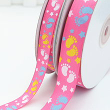 Colorful Printed Grosgrain Ribbon for Decorative Gift Packing