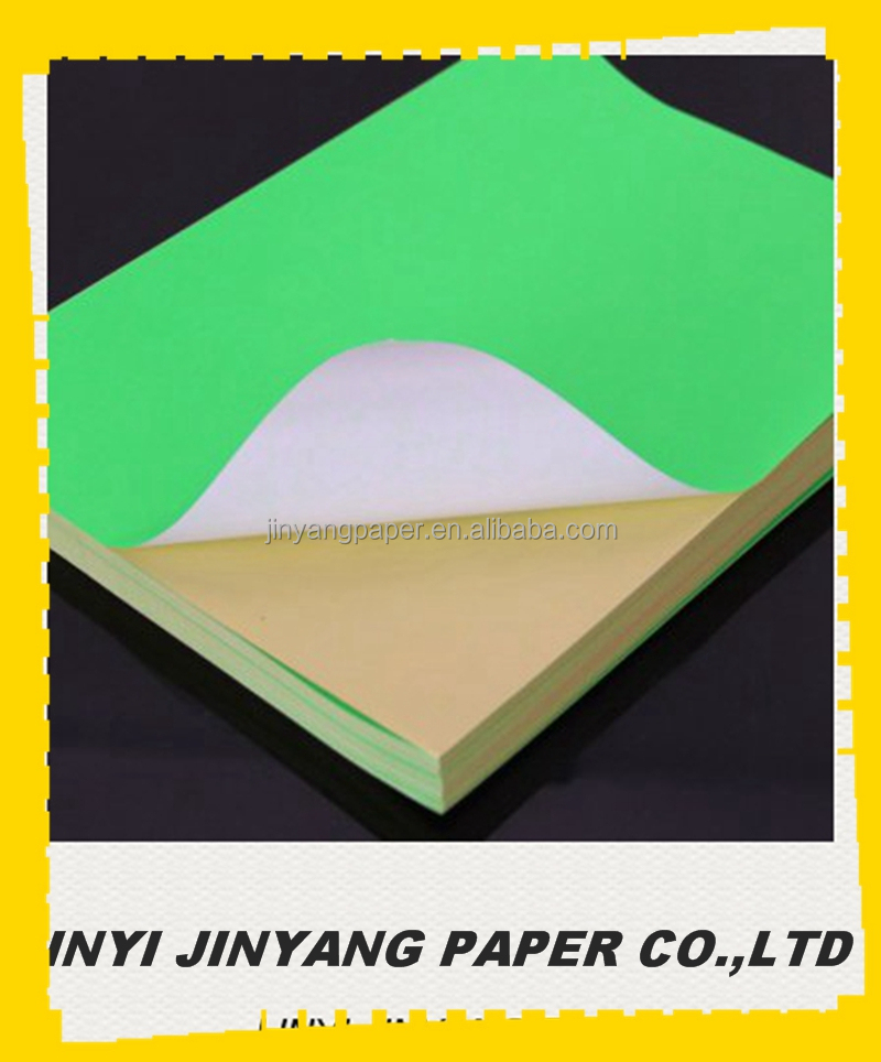 Adhesive fluorescent sticker label paper for screen printing