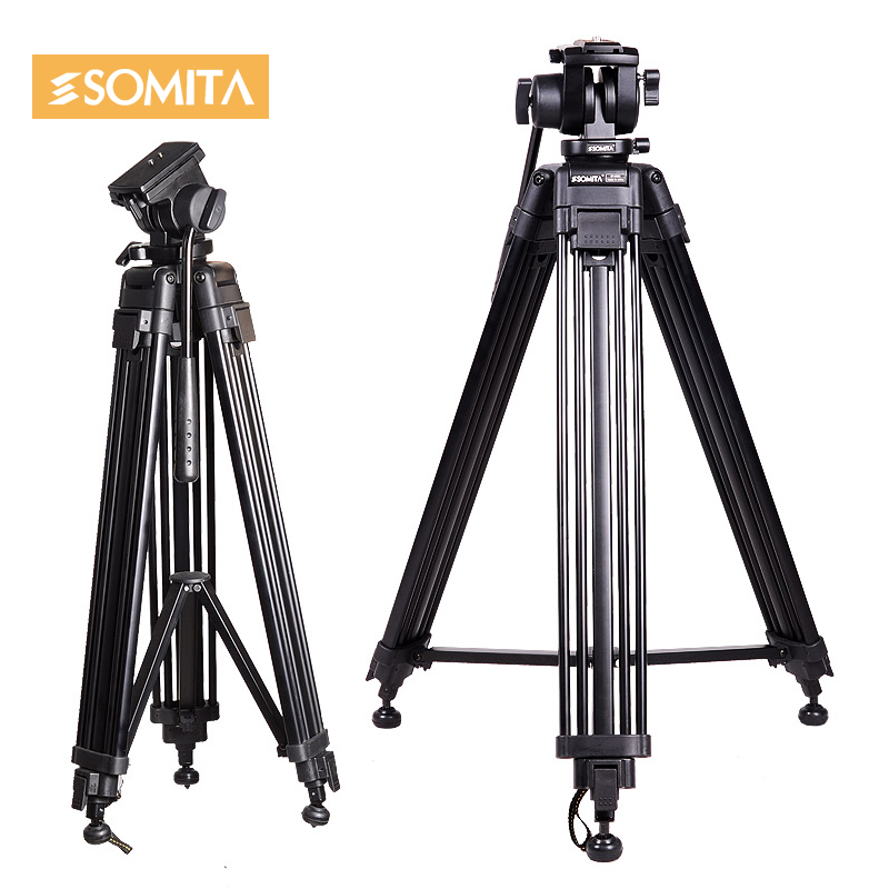 SOMITA ST 650H Professional Heavy Duty Tripod for Digital Video Camera with Fluid Pan Head Damping system for DSLR Camcorder