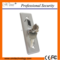 Good quality NO\COM for access control system stainless steel exit switch with key exit button