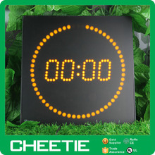 Digital LED Wall Timer Running Dots Unique Design LED Digital Clock