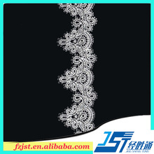 Neck patterns lace and trimings for prom dresses material