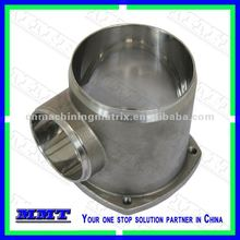 lost wax casting of tee joint with mirror polishing surface