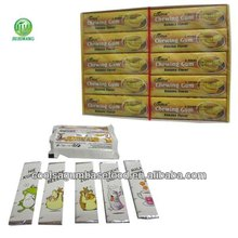 5 sticks mixed flavors trident chewing gum