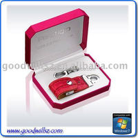 Exquisite gift packing leather u disk usb flash drive flash memory