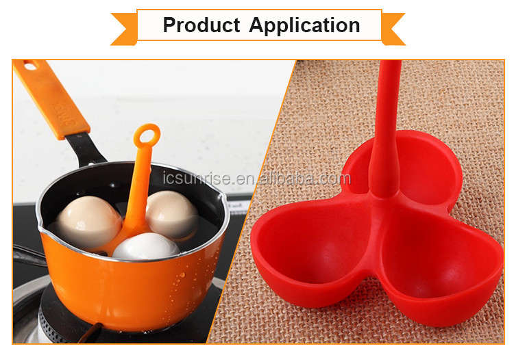 Kitchen Accessory Silicone Best Egg Boiling Holder