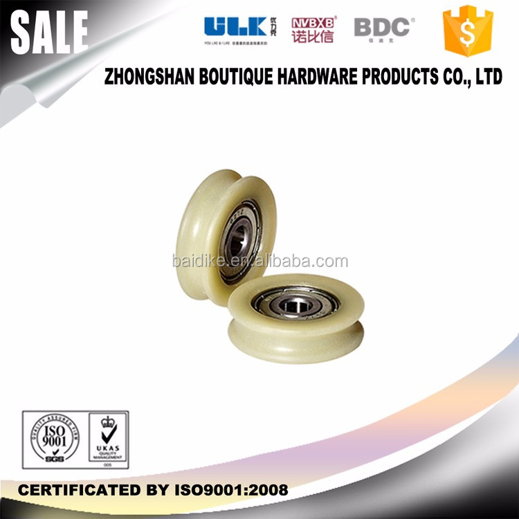 u shape guide pulley wheel aluminum for roller skate low friction with roller bearing pulley High Precision C3 C0 BDC-WU028
