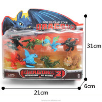 8pcs Set Movie How to Train Your Dragon 2 PVC Action Figures Night Fury Toothless Dragon Toys New in Box