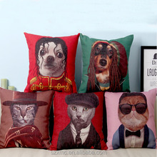 Custom novelty funny dog star printed cushion, pet cushion, pet cushion cover
