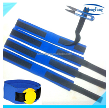 Blue neoprene timing chip strap