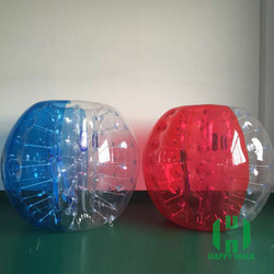 TPU Inflatable body zorb, bumper ball,inflatable human bubble soccer