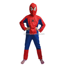 2016 kids halloween outfits children cosplay costume spiderman costume for Hallowen Party